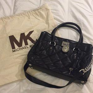 Michael Kors Black quitted handbag